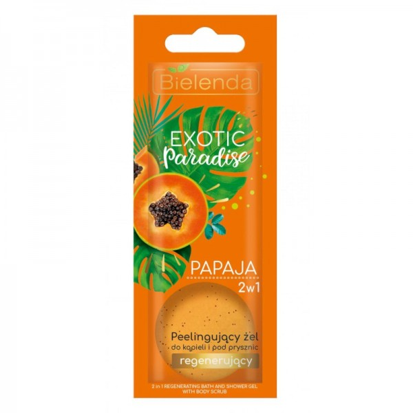 Bielenda - Exotic Paradise 2In1 Peeling Bath And Shower Gel Regenerating Papaya