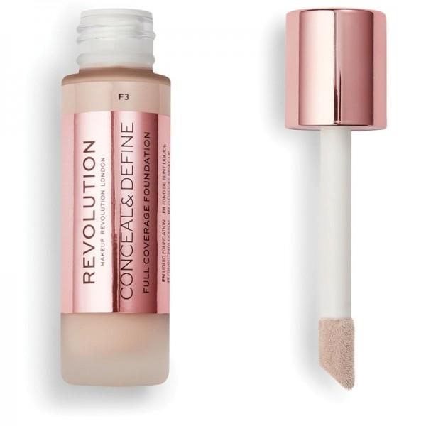 Makeup Revolution - Foundation - Conceal & Define Foundation F3