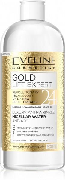Eveline Cosmetics - Mizellenwasser - Gold Lift Expert Luxury Anti-Falten-Mizellenwasser Anti-Age 3In