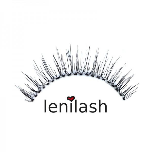 lenilash - False Eyelashes - Black - Human Hair - Nr.132