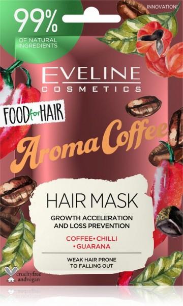 Eveline Cosmetics - Haarmaske - Food For Hair Aroma Coffee Haarmaske 20ml