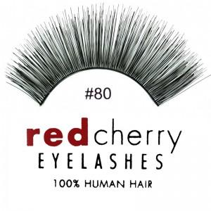 Red Cherry - False Eyelashes No. 80 Ginger - Human Hair
