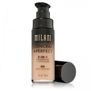 Milani - Foundation + Concealer - 2 in 1 - Conceal + Perfect - Light Natural - 00