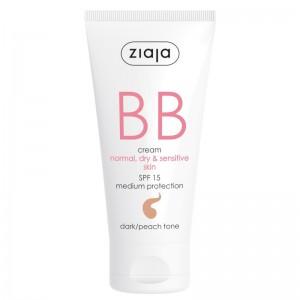 Ziaja - BB Cream - Normal, Dry and Sensitive Skin - Dark/Peach Tone SPF15