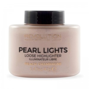 Makeup Revolution - Highlighter - Pearl Lights Loose Highlighter - Peach