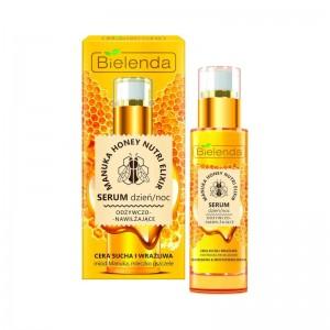 Bielenda - Sieri viso - Manuka Honey Nutri Elixir Face Serum Day/Night For Dry And Sensitive Skin