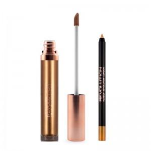Makeup Revolution - Liquid Lipstick - Retro Luxe Kits Metallic - Empress