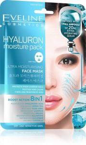 Eveline Cosmetics - Gesichtsmaske - Hyaluron feuchtigkeitsspendende Tuchmaske