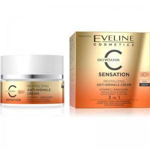 Eveline Cosmetics - Gesichtspflege - C Sensation - Revitalisierende Anti-Falten Tages- & Nachtcreme