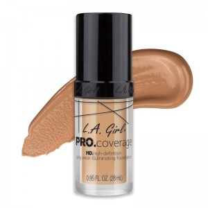L.A. Girl - Foundation - Pro Coverage Liquid Foundation - GLM 644 - Natural