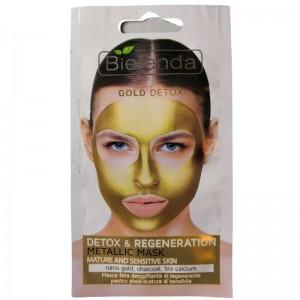 Bielenda - Maschere - Gold Detox - Detox & Regeneration Metallic Mask