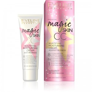 Eveline Cosmetics - CC Cream - Magic Skin CC feuchtigkeitsspendende Creme gegen Rötungen
