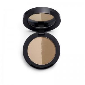 Revolution Pro - Augenbrauenpuder - Duo Eyebrow Powder Medium Brown
