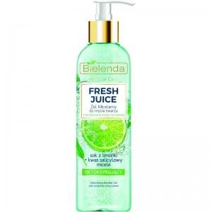 Bielenda - Gel detergente - Fresh Juice Detoxifying Micellar Gel With Bioactive Citrus Water Lime Juice