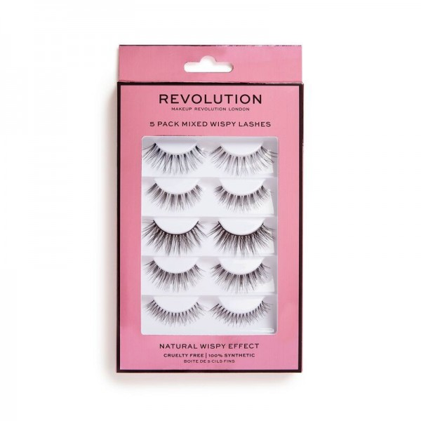 Revolution - Revolution 5 Pack Mixed Wispy Lashes