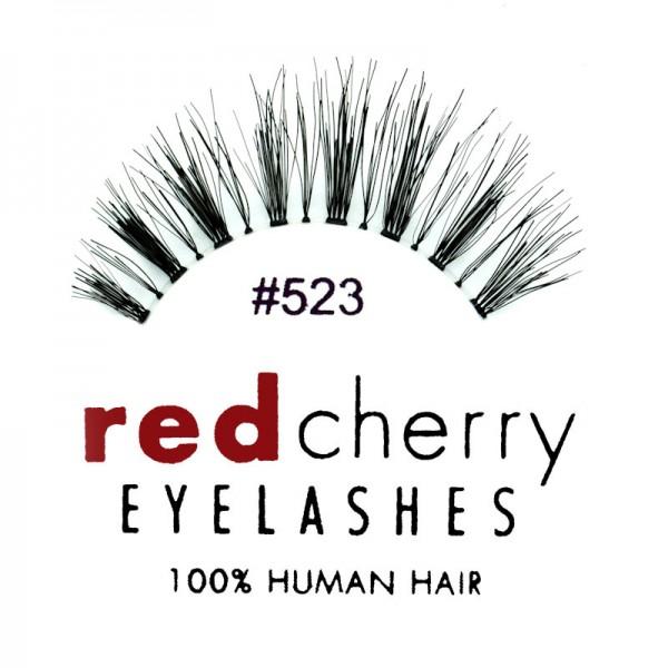 Red Cherry - False Eyelashes No. 523 Sage - Human Hair
