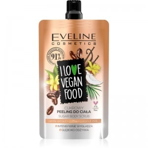 Eveline Cosmetics - Körperpeeling - I Love Vegan Food Vanilla Latte Body Scrub