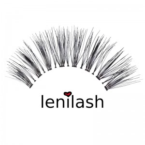 lenilash - False Eyelashes - Black - Human Hair - Nr.147