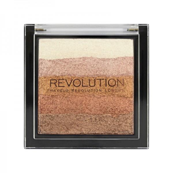Makeup Revolution - Makeup Palette - Vivid Shimmer Brick Bronze Kiss