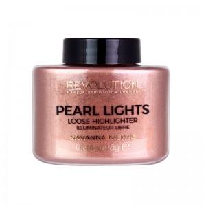 Makeup Revolution - Highlighter - Pearl Lights Loose Highlighter - Savanna Nights