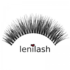 lenilash - False Eyelashes - Black - Nr.122 - Human Hair