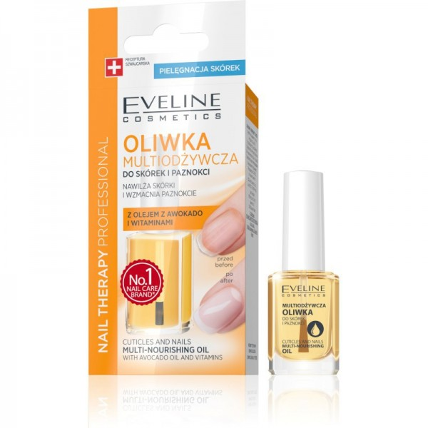 Eveline Cosmetics - olio per unghie - Nail Therapy Professional Cuticles And Nails Multi-Nourishing Oil 12Ml