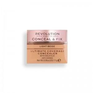 Revolution - Concealer - Conceal & Fix Ultimate Coverage Concealer - Light Beige