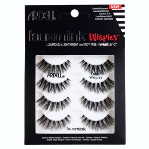 Ardell - False Eyelashes - Faux Mink - Demi Wispies - 4er Pack