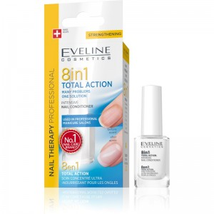 Eveline Cosmetics - Nail Therapy Total Action Nail Conditioner 8in1 12Ml