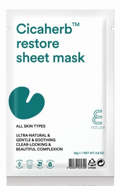E Nature - Gesichtsmaske - Cicaherb Restore Sheet Mask