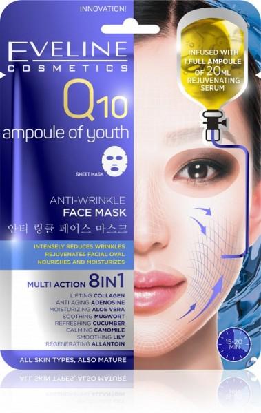 Eveline Cosmetics - Gesichtsmaske - Q10 Anti-Falten Tuchmaske