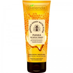 Bielenda - Manuka Honey Nutri Elixir Cleansing Face Foam For Dry And Sensitive Skin