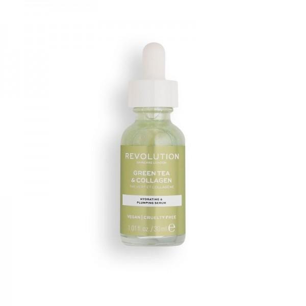 Revolution - Serum - Skincare Green Tea & Collagen Serum
