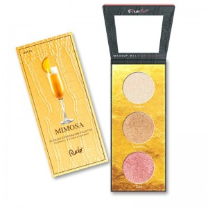 RUDE Cosmetics - Lidschattenpalette - Cocktail Party Luminous Highlight/Eyeshadow Palette - Mimosa