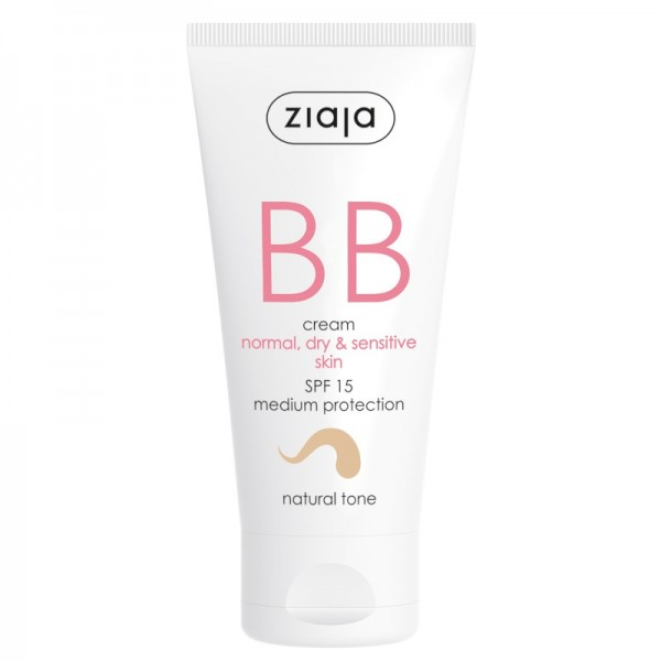 Ziaja - Gesichtspflege - BB Cream - Normal, Dry and Sensitive Skin - Natural Tone SPF15