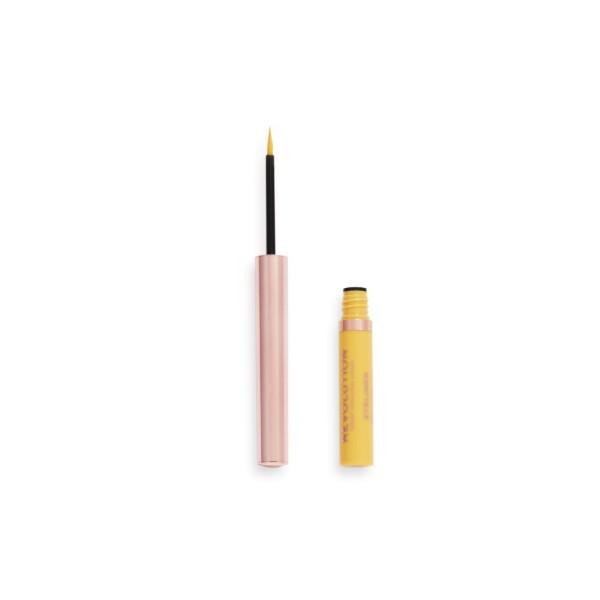 Revolution - Eyeliner - Neon HeatColoured Liquid Eyeliner - Lemon Yellow