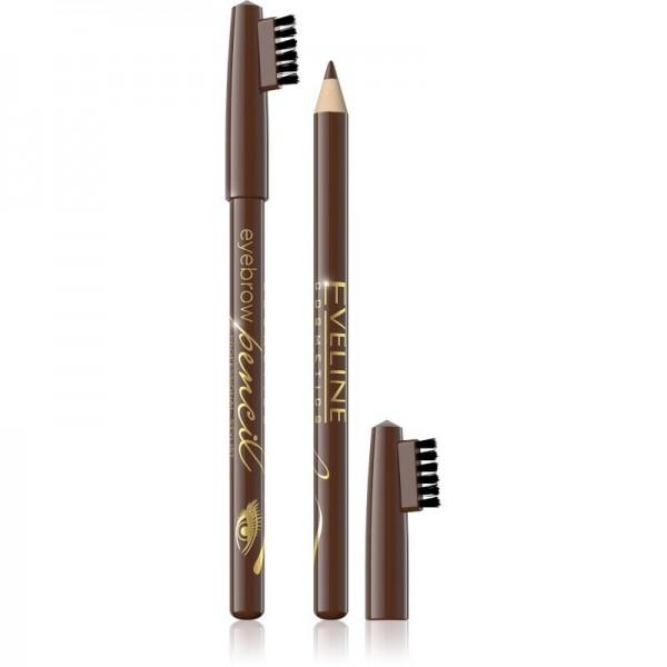 Eveline Cosmetics - Augenbrauenstift - Eyebrow Pencil With Brush - Brown