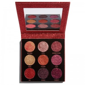 Makeup Revolution - Lidschattenpalette - Pressed Glitter Palette - Hot Pursuit