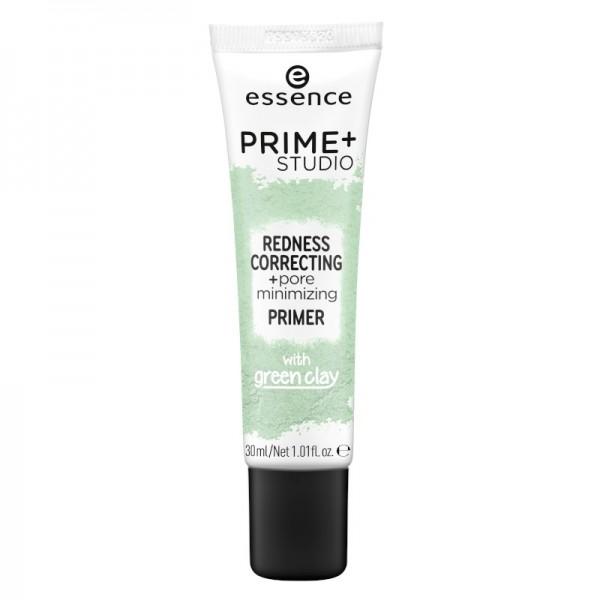 essence - Face Primer - prime+ studio redness correcting + pore minimizing primer