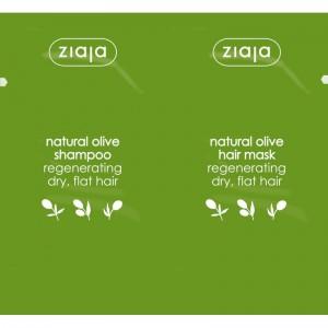 Ziaja - Shampoo + Haarmaske - Duo Natural Olive Shampoo + Hair Mask