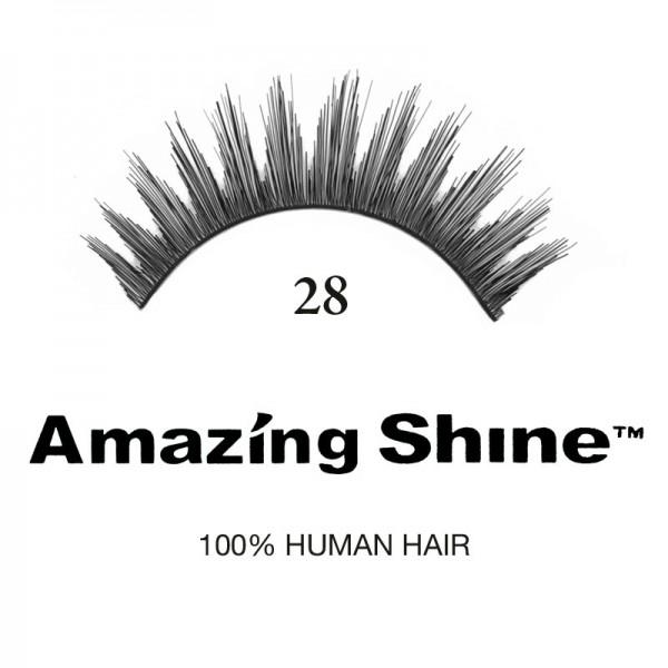 Amazing Shine - Falsche Wimpern - Wimpernbänder - Nr. 28 - Echthaar