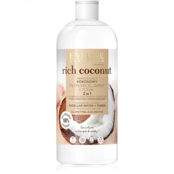 Eveline Cosmetics - Rich Coconut Moisturizing Coconut Micellar Water + Toner - 500ml