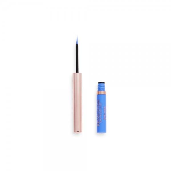 Revolution - Eyeliner - Neon Heat Coloured Liquid Eyeliner - Sky Blue