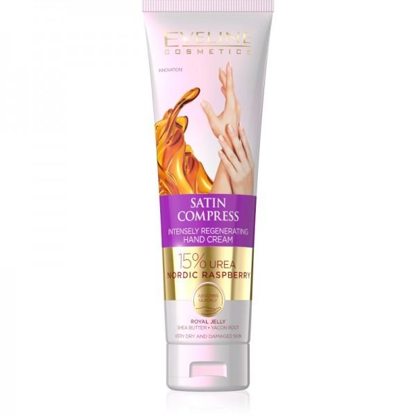 Eveline Cosmetics - Handcreme - Satin Compress Intensely Regenerating Hand Cream Nordic Raspberry