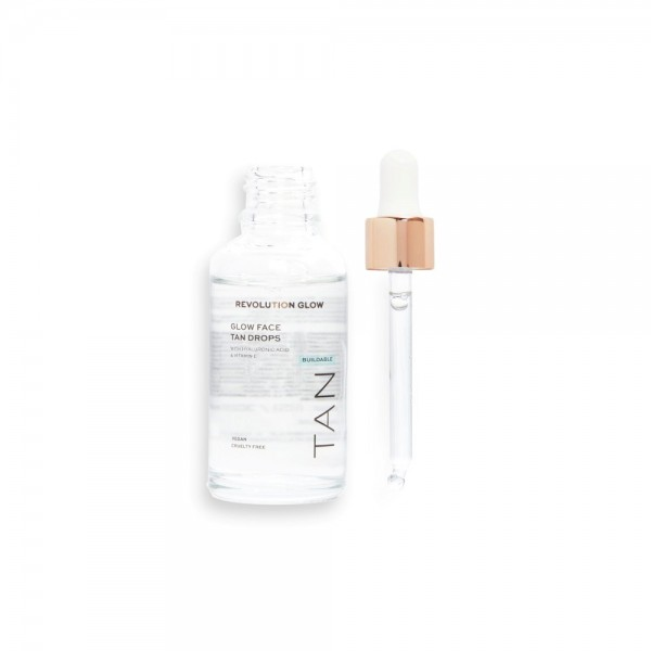 Revolution - Hautpflege - Glow Buildable Face Tanning Drops with Illuminating Hyaluronic