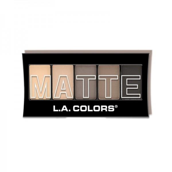 LA Colors - Lidschattenpalette - 5 ColorMatte Eyeshadow - Nude Suede