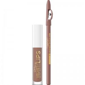Eveline Cosmetics - Set di rossetti - Oh My Velvet Lips Matt Lip Kit - 14 Choco Truffle