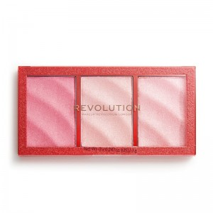 Revolution - Highlighter - Precious Stone Highlighter Palette - Ruby Crush