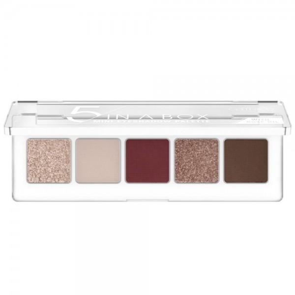 Catrice - 5 In A Box Mini Eyeshadow Palette - 060 Vivid Burgundy Look