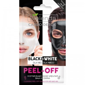 Bielenda - Gesichtsmaske - Carbo Detox Black&White reinigende Peel-Off Maske